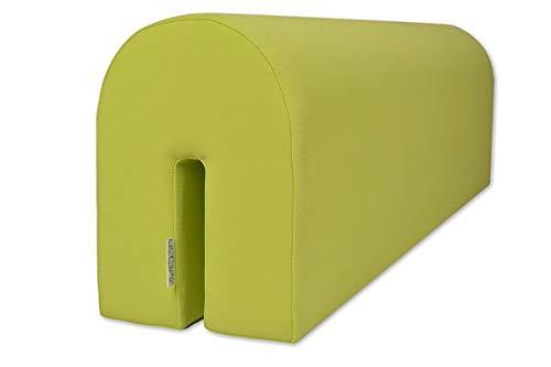 Barrier Guard Protector de Cama para Proteger a tu bebé | Seguro y cómodo para tu Hijo - Protector de Cama de Espuma, Verde Lima, 14x20x73