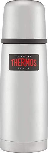 THERMOS 4019.205.035 Thermosflasche Light & Compact, Edelstahl mattiert 0,35 l, Spülmaschinenfest, 12 Stunen heiß, 24 Stunden kalt