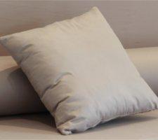 Cojín enfundado en microfibra para sofá palet (Gris)