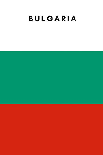 Bulgaria: Country Flag A5 Notebook (6 x 9 in) to write in with 120 pages White Paper Journal / Planner / Notepad