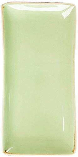 Plaque de Dîner 2 Pièces Vintage Vaisselle Céramique Vaisselle de La Céramique 11 Pouces Plaque de Vaisselle Ensemble Pour Pâtes/Salade/Steak,Vert,11-Inch