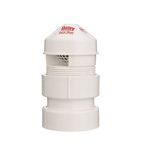 Oatey 39017 Sure-Vent AIR ADM Valve, 1-1/2-Inch by 2-Inch, White (Drain Vent Valve)