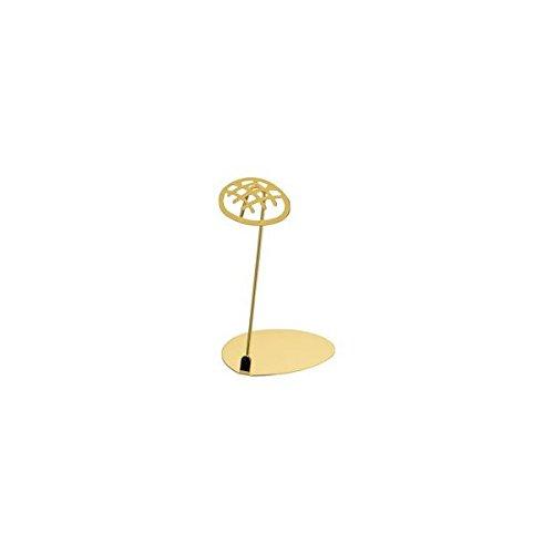 アズワン パン屋さんのPOPスタンド メロンパン 10cm ゴールド/62-6582-89
