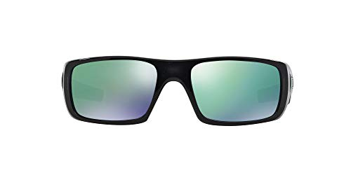 Oakley Men's OO9239 Crankshaft Rectangular Sunglasses, Black Ink/Jade Iridium, 60 mm