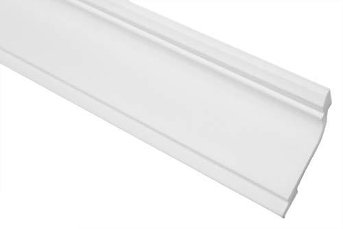 2 meter   Styrofoam stuclijst   plafond   stabiel   wit   sierprofiel   licht   decoratief   XPS   45x67mm   E-35