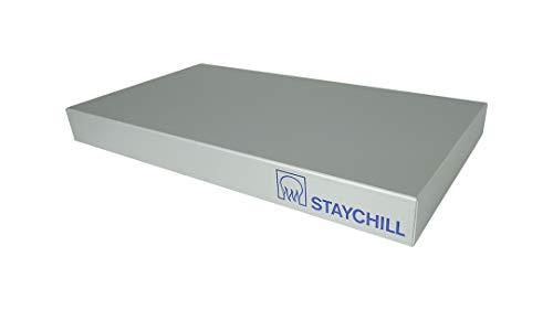 Saro Stay Cool 1/3 GN Kühl-Servierplatte, Metall, Silber, 32.5 x 17.6 x 3.6 cm