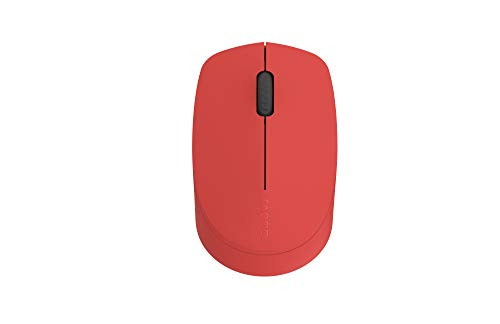 Rapoo M100 Silent kabellose Maus, Bluetooth und Wireless (2.4 GHz) via USB, Multi-Mode, 1000 DPI, leise Tasten, rot