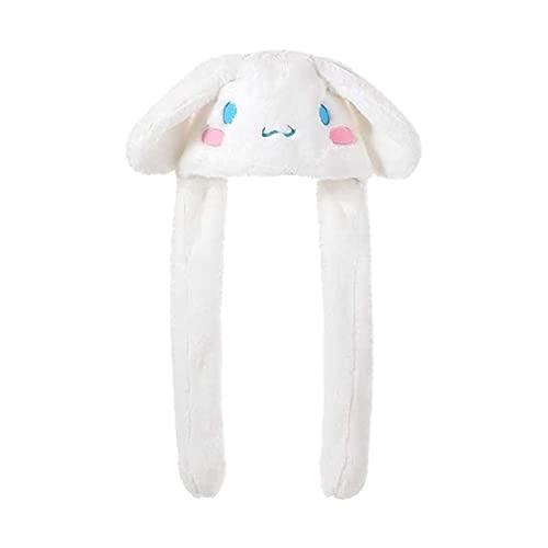 Juguetes de Peluche Japón Kawaii Sombrero De Felpa Mantener Caliente Sombrero De Conejito Moviendo Las Orejas hacia Arriba Juguete De Peluche