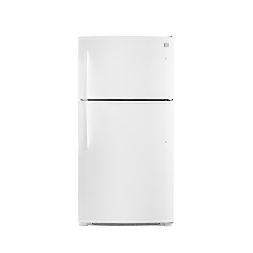 Kenmore Top-Freezer Refrigerator with Ice Maker and 21 Cubic Ft. Total Capacity, White