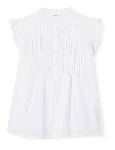 s.Oliver Junior Mädchen 401.10.105.10.100.2062589 Bluse, White, M