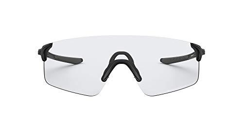Oakley Men's OO9454 EVZero Blades Polarized Rectangular Sunglasses, Matte Black/Clear-Black Photochromic, 38 mm