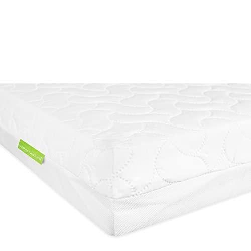 MOTHER NURTURE Premium Foam Cot Bed Mattress, White, 140 x 70 x 10cm