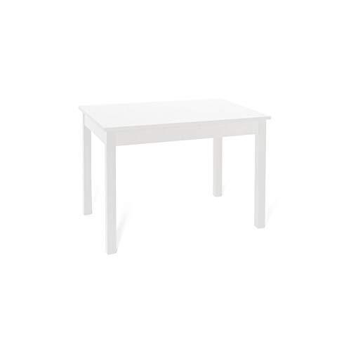 Tavolo da pranzo allungabile interamente in legno nobilitato cm 70x110/150 bianco