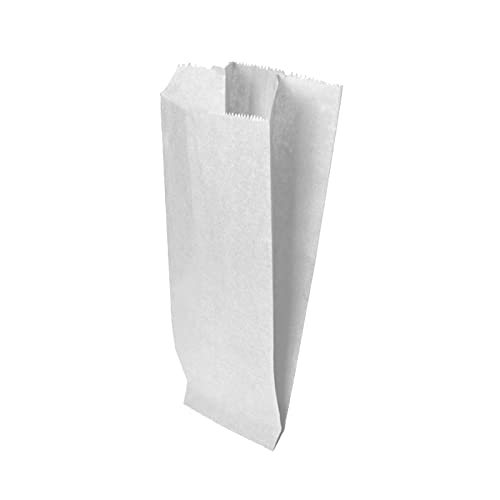 VIRSUS 200 Sacchetti Bianchi in Carta Kraft per Alimenti 14x30 Sacchetto in Carta Kraft Bianco per...