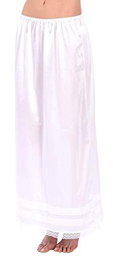Patricia Damen Soft Satin Half Slips mit verstellbarem Snip-it - Wei� - Large