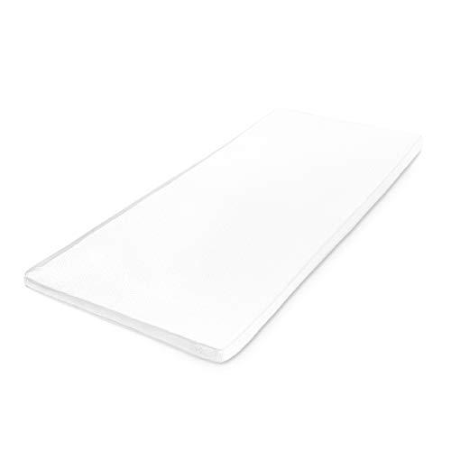 Lumaland Topper colchón ortopédico viscoelástico de Espuma Confort 100 x 200 cm + 3,5 cm
