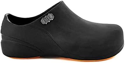 Stico Men's Slip Resistant Chef Clogs, Professional Non-Slip Work Shoes for Restaurant Hospital Nursing Garden [Black/US Men 8]