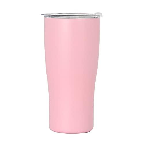 CYLZRCl Frascos Vacío Thermo Cup Taza Termo Café Acero Inoxidable Doble 600 Ml / 900 Ml con Botella Aislada Antideslizante Viajes En Automóvil (Color : Pink, Tamaño : 600ml)
