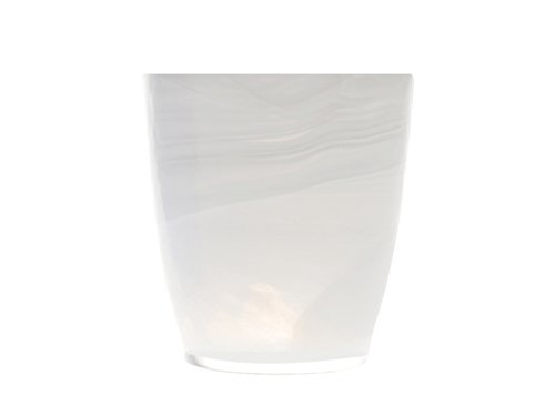 H&H Alabastro - Juego de 6 Vasos de Cristal, Color Blanco, 230...