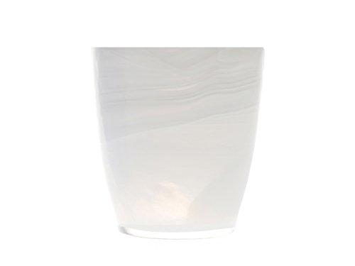 H&H Alabastro Set 6 Bicchieri, Vetro, Bianco, 230 ml, 9x9x10 cm, 6 unità