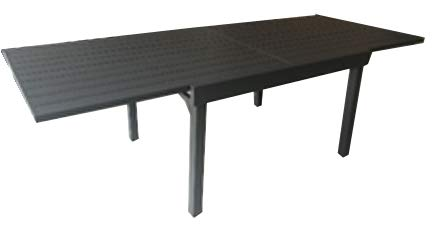 Grupo Maruccia table in aluminium Anthracite colour extendable up to 3.20 meters