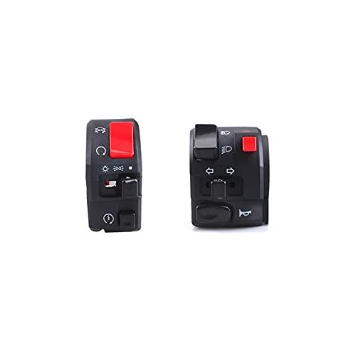 LIUXIAOKE 7/8'22mm Motorcycle Interruptores Motorbike Botón Botón Botón Señal Lámpara de Niebla eléctrica Start Start Manillar Controller Interruptor (Color : Left and Right)