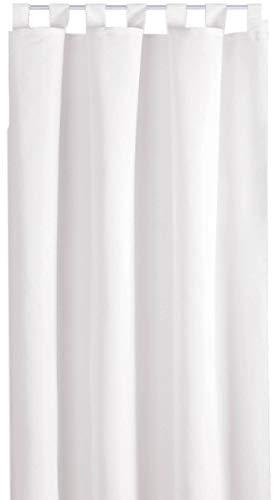 Bestlivings Blickdichte Gardine mit Schlaufen (140x245 cm/Weiß), in vielen Variationen