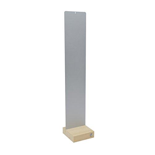 Kalamitica Plaque métallique avec base en bois Gris clair 14 x 70 cm