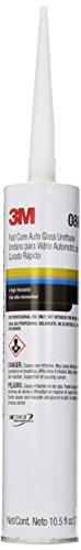 3M Fast Cure Auto Glass Urethane, 08690, 10.5 fl oz Cartridge
