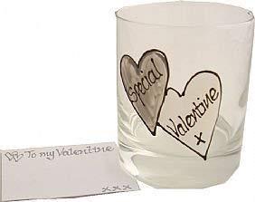 Speciaal cadeau voor Valentijnsdag whiskey glas (grijs)