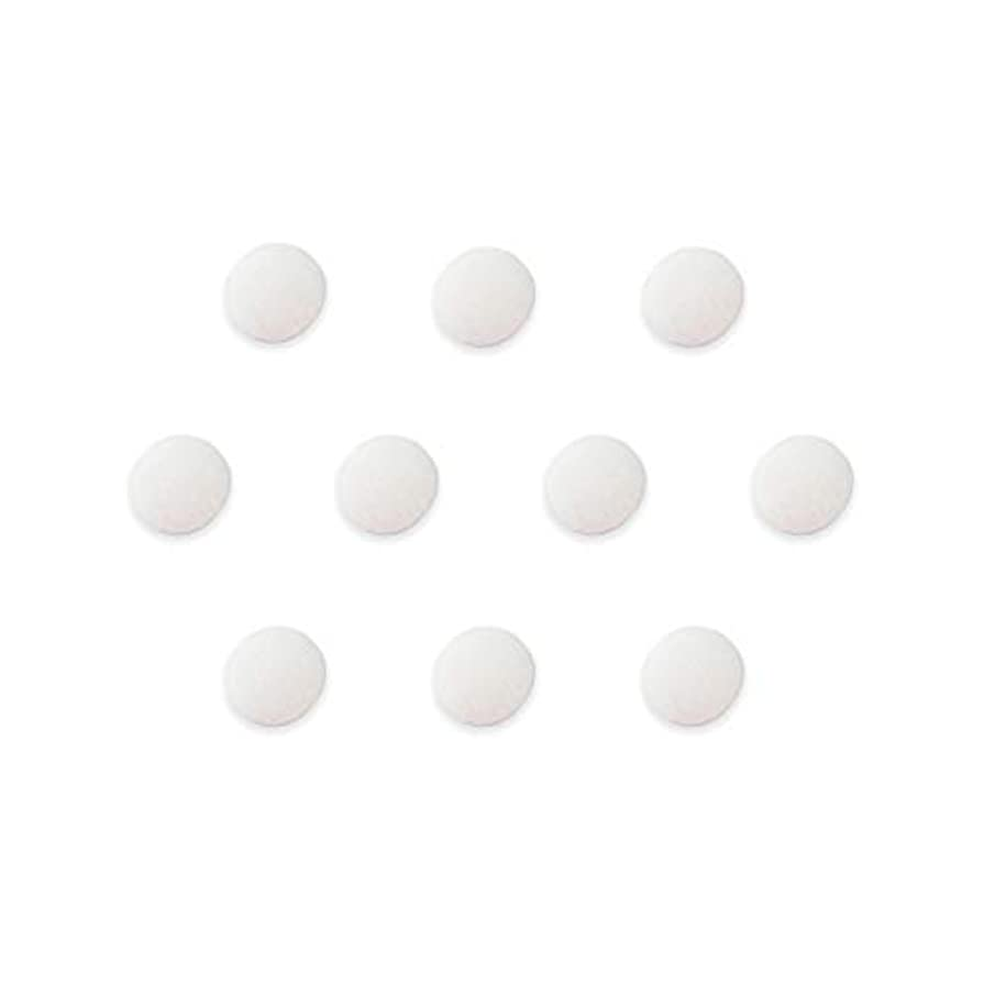 Fabric Covered Flat Back Buttons - Cloth Flatback Embellishments - Pink, Red, Blue, Green, Orange, Yellow, White - Decorative - for Scrapbooking, Jewelry, Crafts, Decoration - 10 pc (White, 1/2