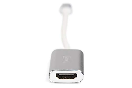 DIGITUS USB Typ-C Grafik Adapter, USB Type-C zu HDMI Typ A, 4K Ultra HD 30Hz, 3840x2160 Pixel, Aluminium