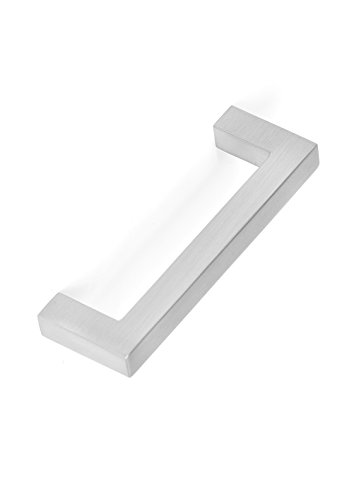 BirdRock Home Square Contemporary Handle - Brushed Nickel - 25 Pack - 3 Inch Kitchen Cupboard Furniture Cabinet Hardware Drawer Dresser Pull Trad