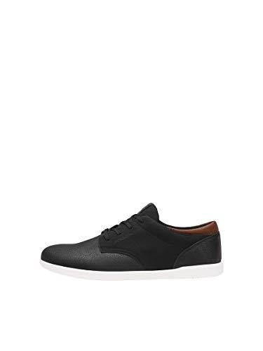 Jack & Jones Jfwjamie PU Combo Noos, Sneakers Basses Homme, Gris (Anthracite Anthracite), 42 EU