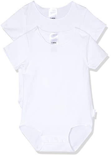 Bonds Baby Wonderbodies Short Sleeve Bodysuit (2 Pack), White, 0 (6-12 Months)