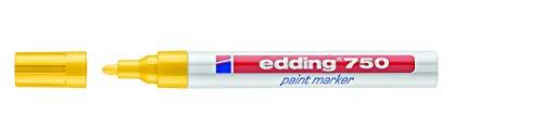 edding 750-005 - Marcador de tinta opaca, 10 unidades, color amarillo