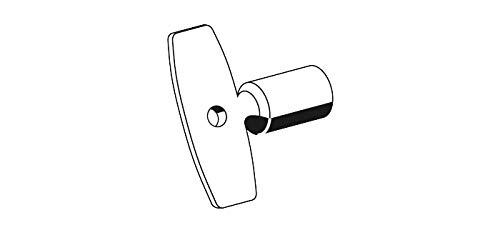 Schell Steckschlüssel (Messing Ersatzschlüssel für Frostsichere Außenwandarmaturen, Außenarmaturen Polar II Mattchrom) 782300399, chrom