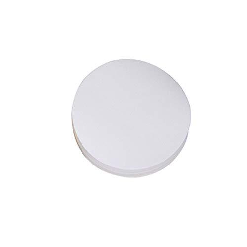 Voarge 100 pezzi di carta da filtro qualitativa diametro 11 cm carta da filtro da laboratorio macchina olio carta da filtro test industriale velocità media