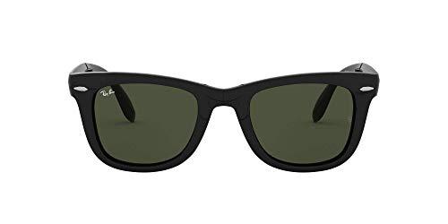 Ray-Ban Folding Wayfarer Sunglasses, Black, 54 mm para Hombre