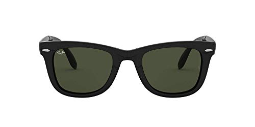 Ray-Ban Folding Wayfarer Gafas de sol, Rectangulares, 55, Black
