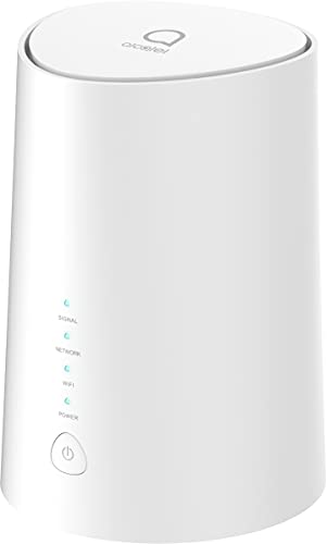 Alcatel HH71 Linkhub 4G LTE Cat 7 Dual Band Gigabit WiFi Router 867Mbps/5G + 300Mbps/2.4G, SIM Card Unlocked, External Antenna, Support Volte, APP Management, Guest Wi-Fi
