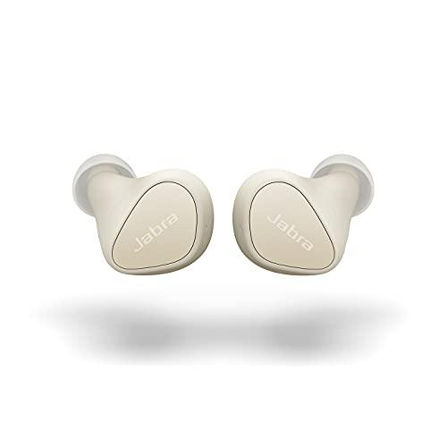 Jabra Elite 3 Cuffie Bluetooth Wireless In Ear - True Wireless Earbuds con isolamento acustico, 4 microfoni per chiamate chiare, bassi ricchi, audio personalizzabile e modalità Mono - Beige chiaro