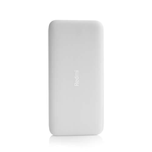 Redmi 20000mAh Li-Polymer Power Bank (White), USB Type C and Micro USB Ports   18W Fast Charging