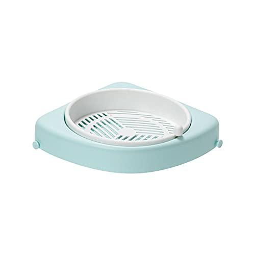 SH-RuiDu Estante de ducha triangular para esquina de baño, diseño de drenaje con gancho pequeño para inodoro y cocina