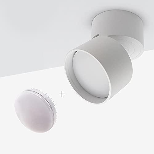 ZGQA-GQA Portalampada a LED a 360 gradi Portalampada a LED con lampadina sostituibile 7W 9W 12W Anti-abbagliamento in superficie (Body Color : Warm White)