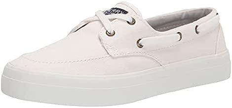Sperry Women's Crest Boat Sneaker, White, 7.5 Medium