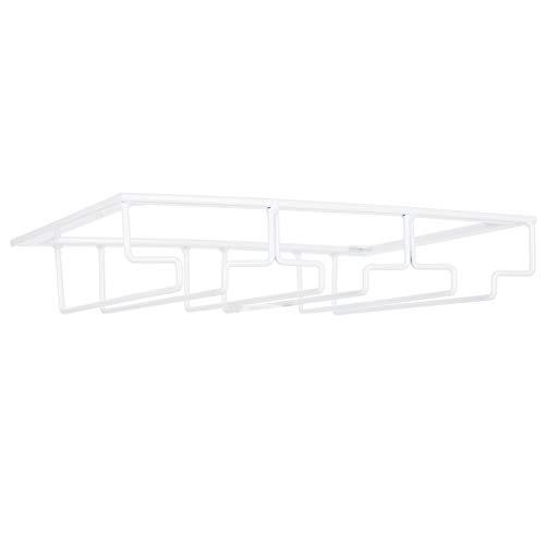 Estante de exhibición de vidrio Colgador de almacenamiento de gafas de hierro Estante de vidrio colgante(3 slot length 30cm width 22.5cm white)