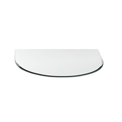 Vonkenscherm G17 tong ESG 6 mm x 1200 mm x 1200 mm met 18 mm facet glasplaat bodemplaat schoorsteenplaat vonkenbescherming ovenplaat open haard glas