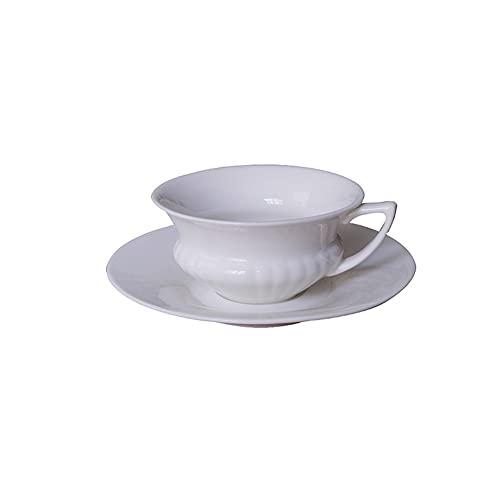 XDYNJYNL Café y platillo de porcelana americana, tazas de capuchino irrompibles tazas de leche latte tazas de leche mezclada cacao beber tumblers highball gafas con mango gran regalo para oficina, 6.7