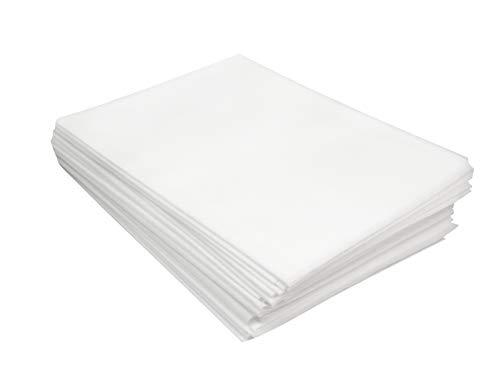 my Hamam, 20 Stück XL Vlieslaken Einmal-Laken, Vliestuch ca. 110x210 cm für Massageliege oder Kosmetikliege, besteht aus 100% Polypropylen, weiss, Physio-Artikel